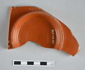 Base fragment of a Samian ware plate
