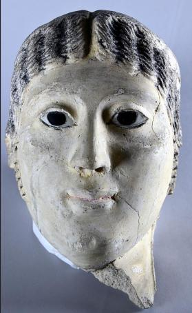 Mummy mask of a female