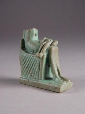 Figure fragment of Isis seated with Horus on her lap
