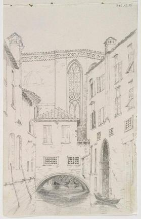 """Canal Scene,"" Church of San Stefano from Rio del Santissimo"