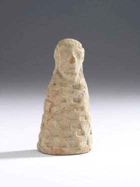 One of six figurine attachments from a funerary vase