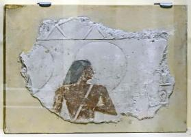 Royal relief depicting sunshade bearer
