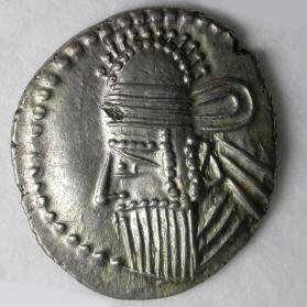 Drachm coin of Vologases IV