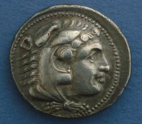 "Tetradrachm with Alexander III ""The Great"" of Macedon as Herakles"