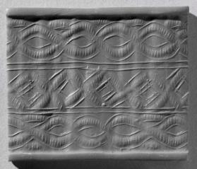 Cylinder seal with geometric design