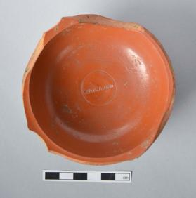 Fragmentary Samian ware cup