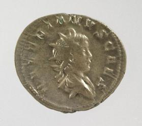 Antoninianus of Valerian II, grandson of Valerian