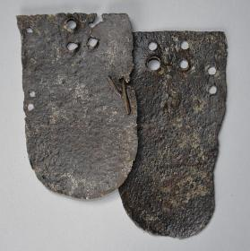 Two plates of scale mail armour