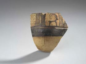 Bowl fragment with goat motif