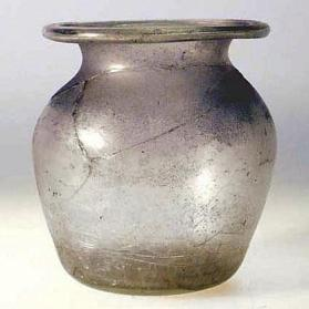 Jar with out curved flattened rim