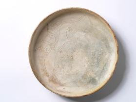 Bowl with bird and foliage motifs