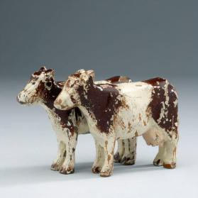 Noah's ark figures: cow and bull