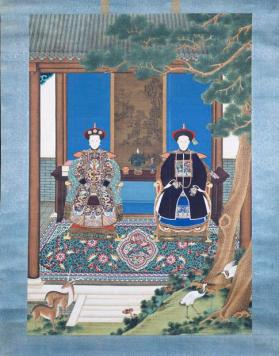 Portrait of a military officier and his wife 夫婦像