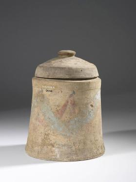 Cinerary urn with painted decoration
