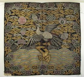 Insignia for man's pufu (overcoat): civil official of 5th degree (silver pheasant)