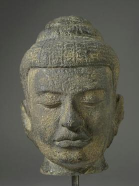 Figural head of Buddha
