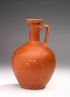 "Red-slip ""Eastern Sigillata A"" ware bottle with one handle"