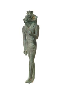Statuette of a standing ram-headed god, Herishef, Arsaphes