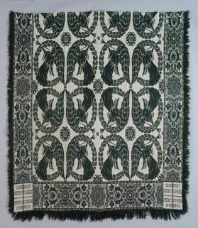 Jacquard coverlet with Cherubim