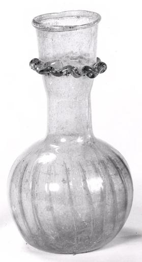 Flask with frilled collar