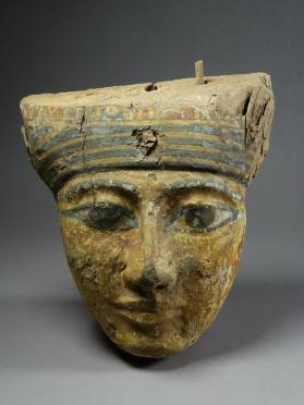 Mask from coffin lid