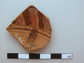 Fragment from an Attic black-figure cup showing a tongue pattern