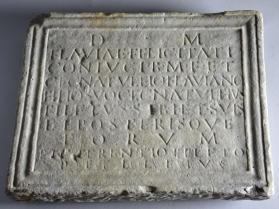 Funerary plaque with epitaph