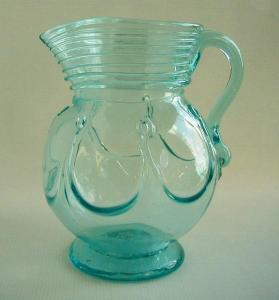 Pitcher, reproduction of Mallorytown Glass Works' pitcher