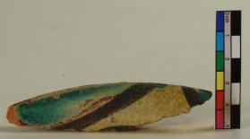 """Stars and Stripes"" ware vessel fragment (rim sherd)"