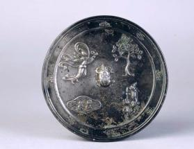Mirror with hare and toad