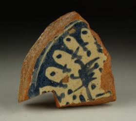 """Blue and White on Red"" ware vessel (base sherd)"