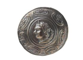 Tetradrachm, Macedonian shield with the head of Pan
