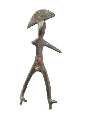 Striding figure of a male warrior