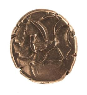 Stater coin with Apollo's wreath, horse on reverse