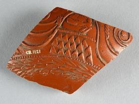 Fragment of a Samian ware vessel