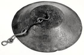 Lid from a two-handled cauldron with swing-handle