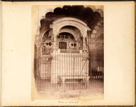 Throne in Delhi fort, from photograph album of Views of India