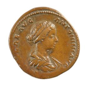 Sestertius with bust of Lucilla, wife of Lucius Verus