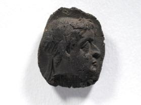 Seal impression of youthful male bust wearing diadem