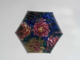 Paperweight, Seal with Bouquet of Flowers (Strawflowers?)