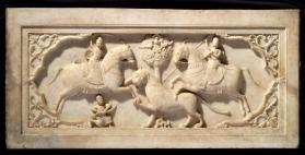 Relief with lion-hunting scene
