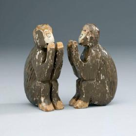 Noah's ark figures: pair of monkeys