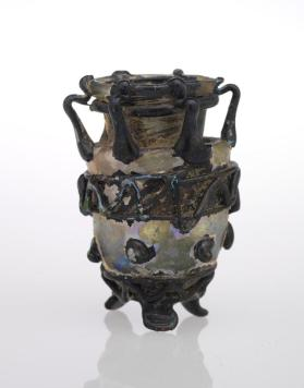 Multiple-handled jar with ovoid body