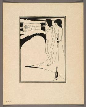 "Plate I, ""The Woman in the Moon"" from ""Salome"" by Oscar Wilde (English, 1854-1900)"