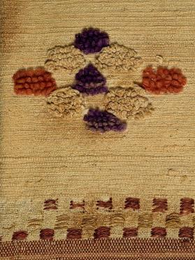 Rag coverlet (catalogne) with à la planche and boutonné patterning