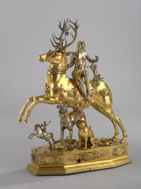 """Diana and the Stag"", automaton sculptural figure"