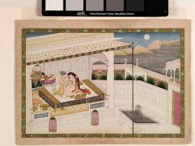 Painting of a Raja's Bedroom