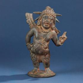 Figure of Chakrapurusha (personification of Vishnu's discus)