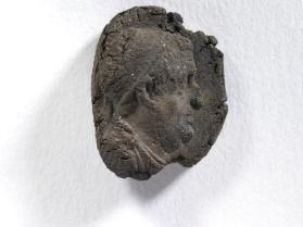 Seal impression of matured male bust wearing diadem