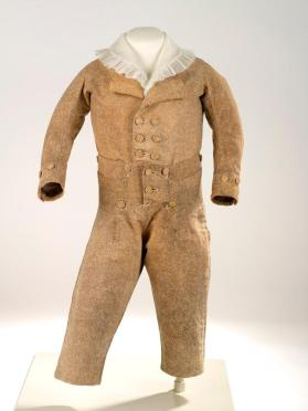 Jacket of infant boy's skeleton suit